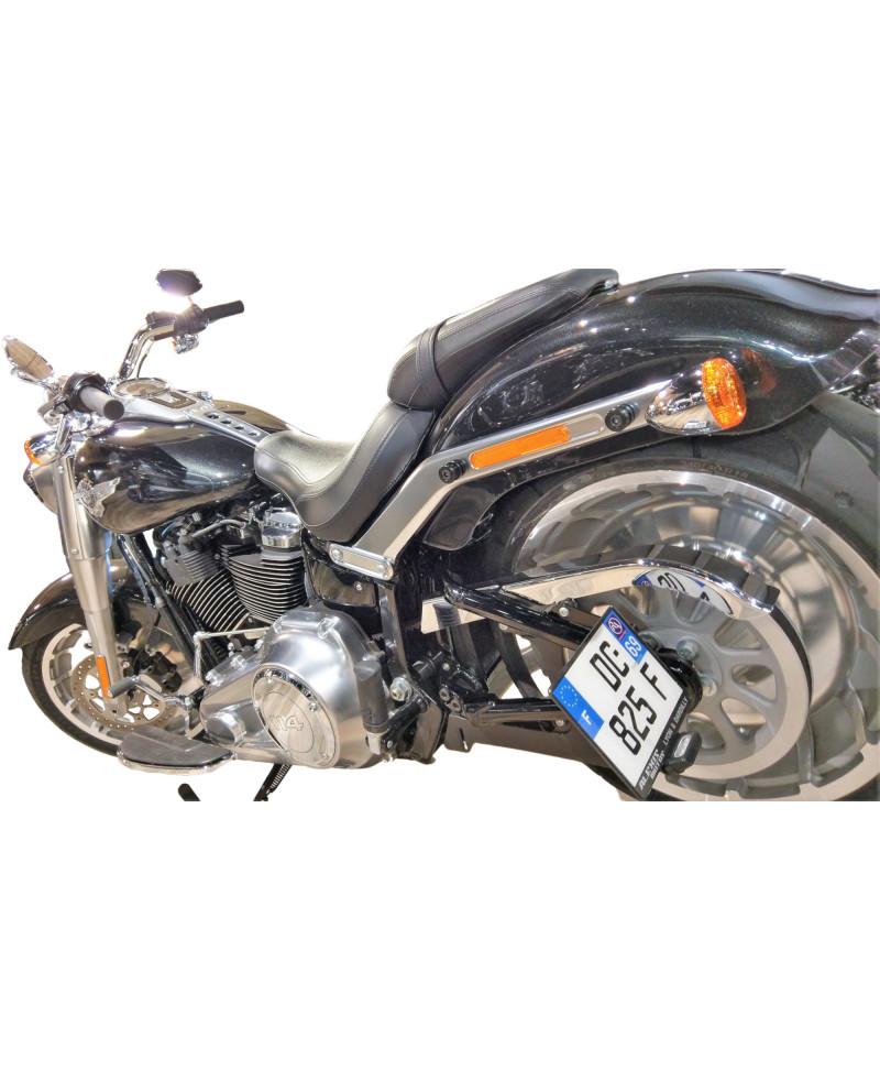 Support de plaque latéral Harley-Davidson FLFB Fat Boy 114//107 2018-2019